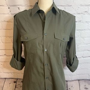 H&M military inspired blouse